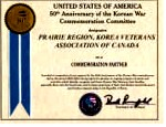 Commemoration Partner Certificate